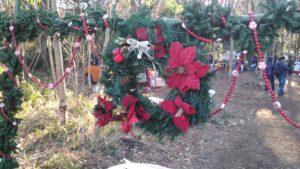 入口のクリスマスリース