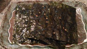 岩ノリ(肉の日サイコロで当たった)