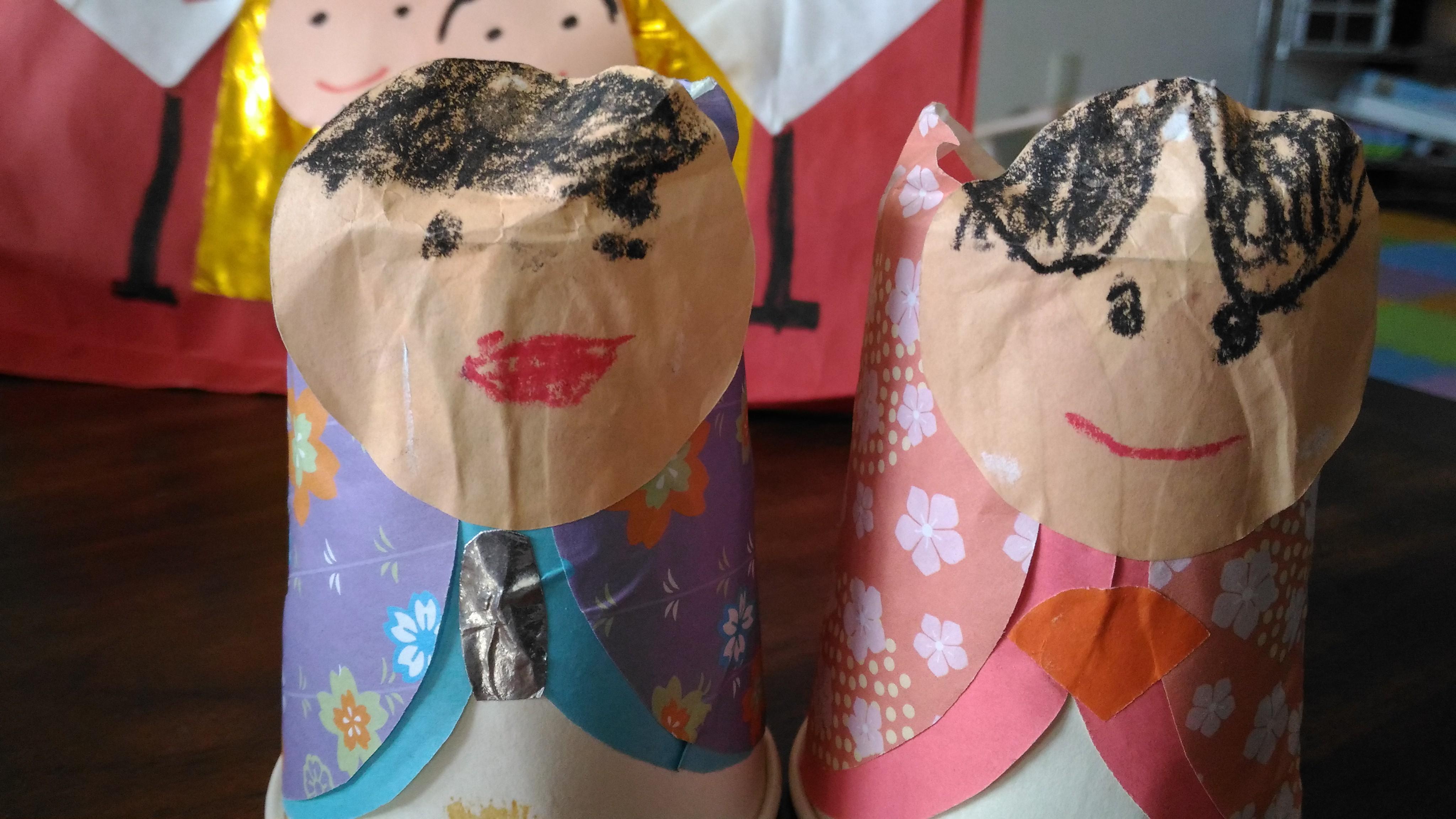 長男年長作成の雛人形
