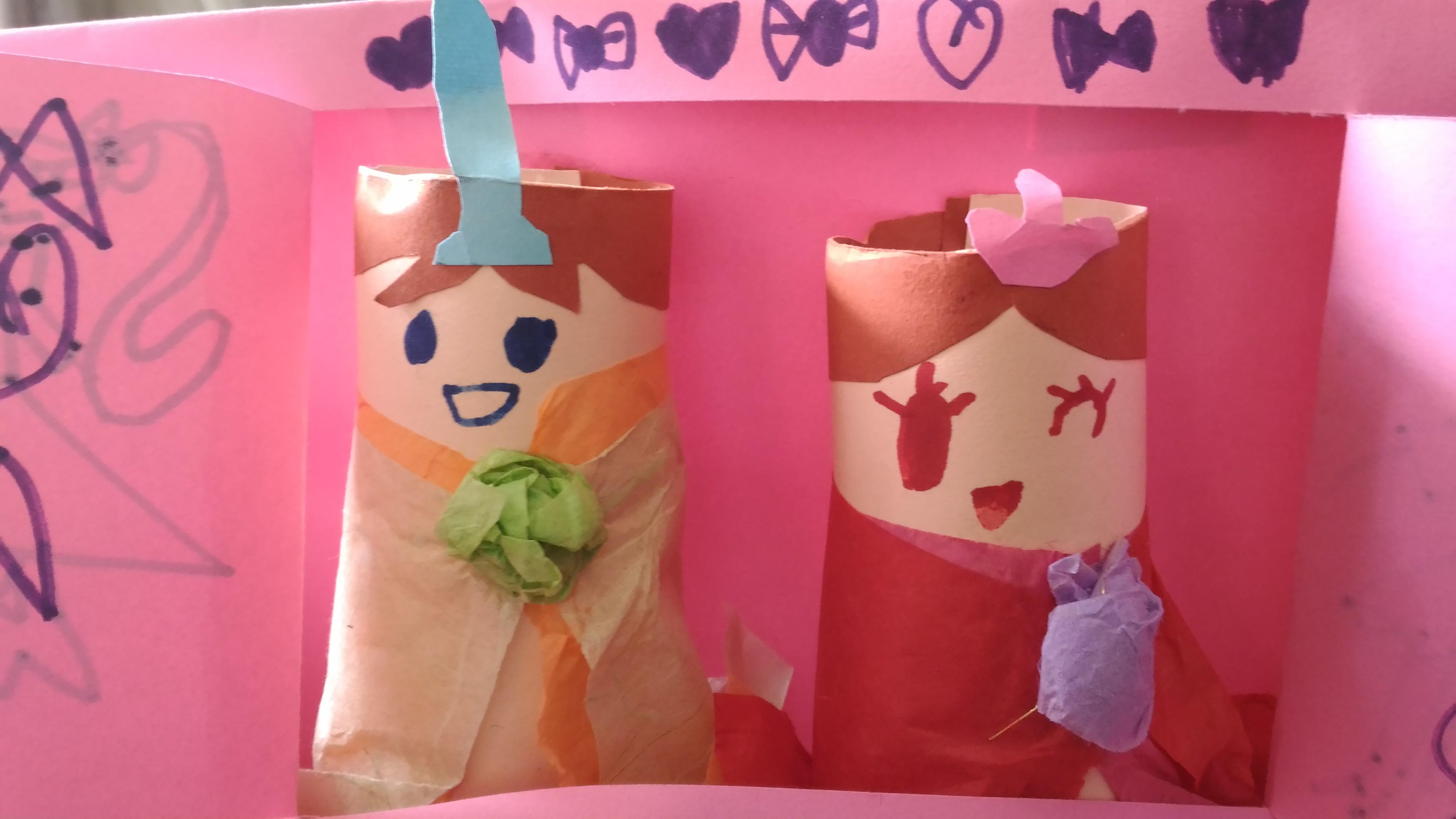 長女年中作成の雛人形
