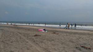 今日の中里海岸