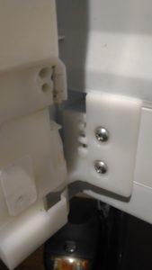 観音扉の回転仕切板