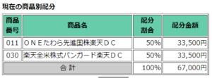 iDeCo商品配分