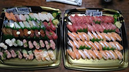 恒例の寿司100貫