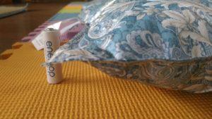 タンスのゲン2枚組羽毛布団干した後