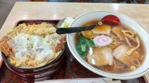 かつ丼とチャーシュー麺