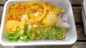 丸亀製麺うどん弁当2種の天ぷら(つゆ入り)