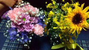 長女と次女からお花