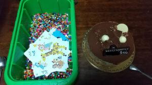 お誕生日ケーキとプレゼント