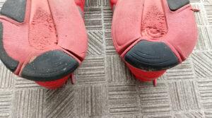 修理後靴底