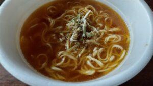 麺とスープだけ黄金鶏油中華そば完成